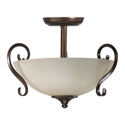 Quorum Lighting Quorum Lighting Powell Oiled Bronze Semi-Flushmount Light 2809-05-25 00:00:00