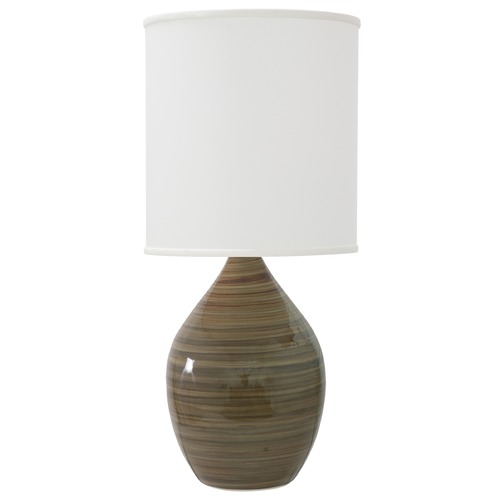 House of Troy Lighting House Of Troy Scatchard Tigers Eye Table Lamp with Cylindrical Shade GS201-TE