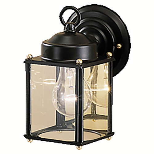 Kichler Lighting Kichler Outdoor Wall Light with Clear Glass in Black Finish 9611BK