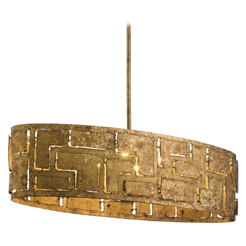 Kichler Lighting Mid-Century Modern Pendant Light Gold Shefali by Kichler Lighting 44156PG