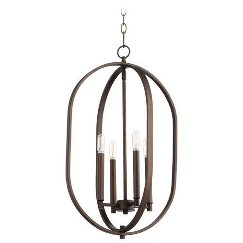 Quorum Lighting Quorum Lighting Collins Oiled Bronze Pendant Light 8044-5-86