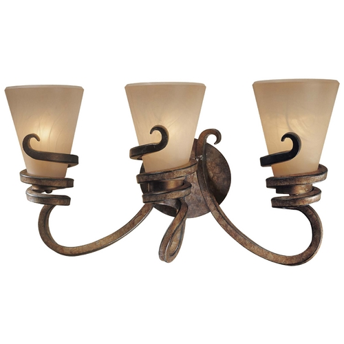 Minka Lavery Modern Bathroom Light with Beige / Cream Glass in Tofino Bronze Finish 6763-211