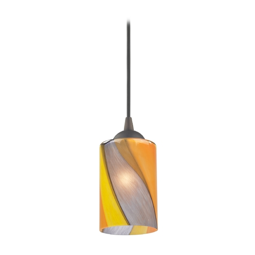 Design Classics Lighting Modern Mini-Pendant Light with Art Glass 582-220 GL1015C