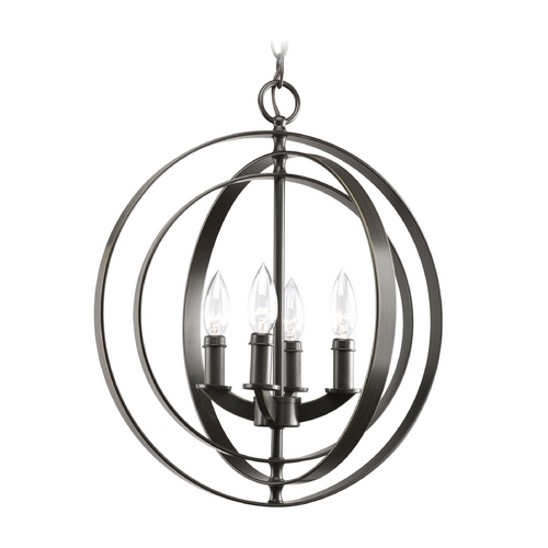 Progress Lighting Progress Orb Chandelier in Antique Bronze Finish P3827-20