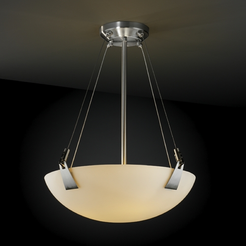 Justice Design Group Justice Design Group Fusion Collection Pendant Light FSN-9641-35-OPAL-NCKL
