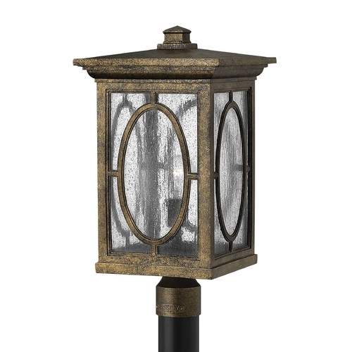 Hinkley Lighting LED Post Light with Clear Glass in Autumn Finish 1499AM-LED