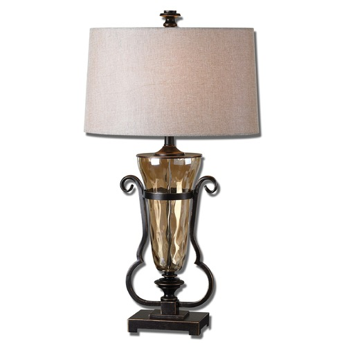 Uttermost Lighting Uttermost Aemiliana Amber Glass Table Lamp 26594