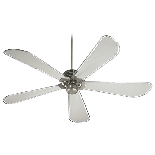 Quorum Lighting Quorum Lighting Dragonfly Patio Satin Nickel Ceiling Fan Without Light 159605-65