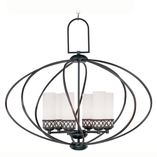 Livex Lighting Livex Lighting Westfield Olde Bronze Pendant Light with Cylindrical Shade 4726-67