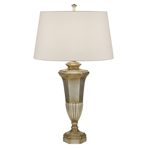 Fine Art Lamps Fine Art Lamps Recollections Antiqued, Gold-Stained Silver Leaf Table Lamp with Drum Shade 828810ST