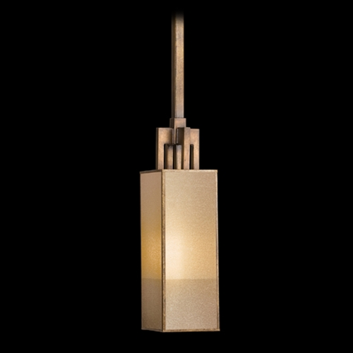 Fine Art Lamps Fine Art Lamps Perspectives Patinated Golden Bronze Mini-Pendant Light with Rectangle Shade 754040ST