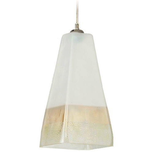 Oggetti Lighting Oggetti Lighting San Marco Satin Nickel Mini-Pendant Light with Square Shade 29-3105BE