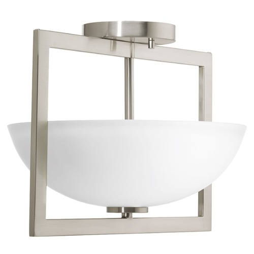 Progress Lighting Progress Lighting Harmony Brushed Nickel Semi-Flushmount Light P3557-09
