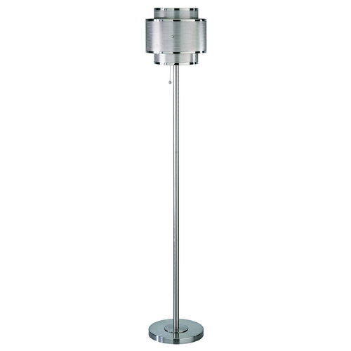 Lite Source Lighting Modern Floor Lamp in Polished Steel Finish LS-9934PS