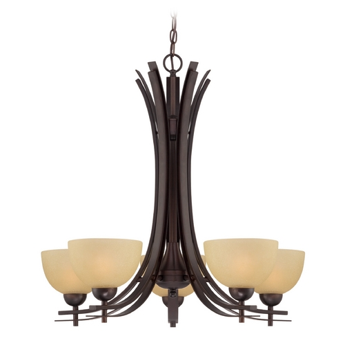 Lite Source Lighting Lite Source Lighting Frenchie Dark Bronze Chandelier LS-18495