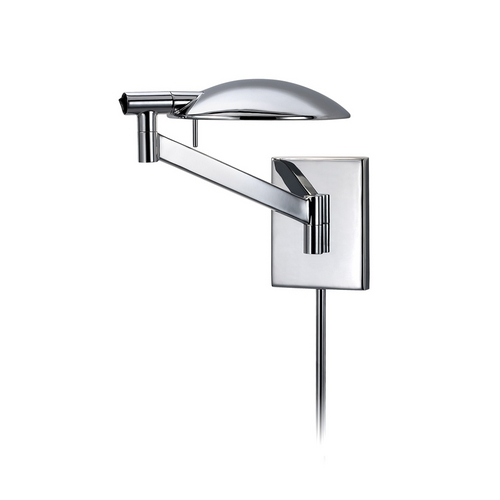 Sonneman Lighting Modern Swing Arm Lamp in Polished Chrome Finish 7085.01