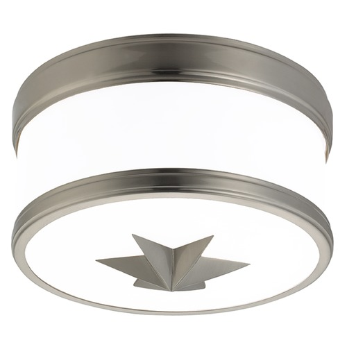 Hudson Valley Lighting Seneca 1 Light Flushmount Light Drum Shade - Satin Nickel 1109-SN