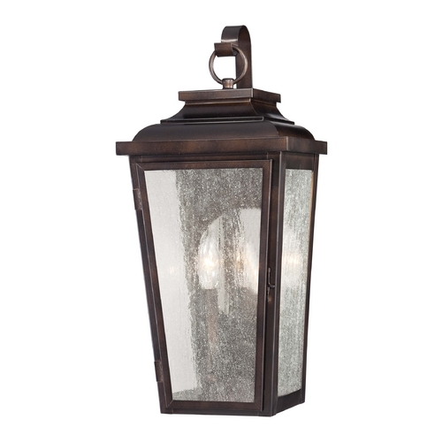 Minka Lavery Outdoor Wall Light with Clear Glass in Chelesa Bronze Finish 72170-189