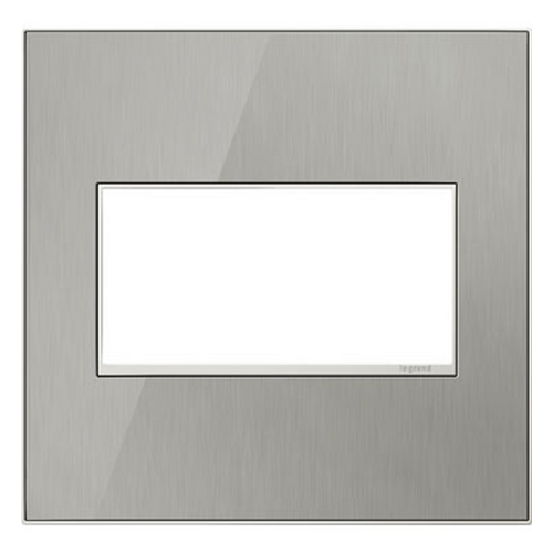 Legrand Adorne Legrand Adorne Brushed Stainless 2-Gang Switch Plate AWM2GMS4