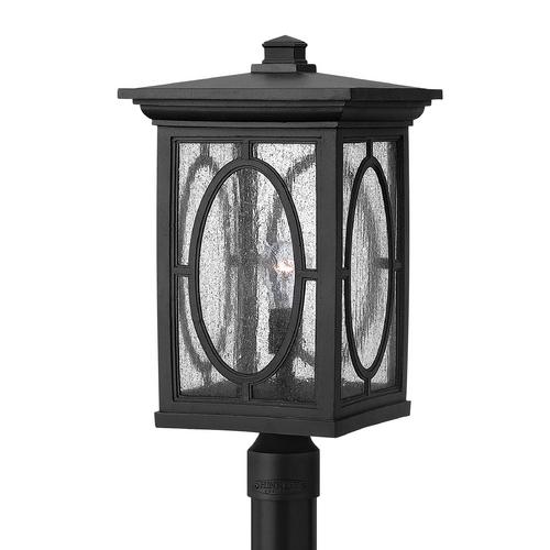 Hinkley Lighting Post Light with Clear Glass in Black Finish 1499BK