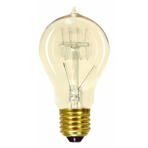 Satco Lighting Incandescent A19 Light Bulb Medium Base 120V by Satco S2411