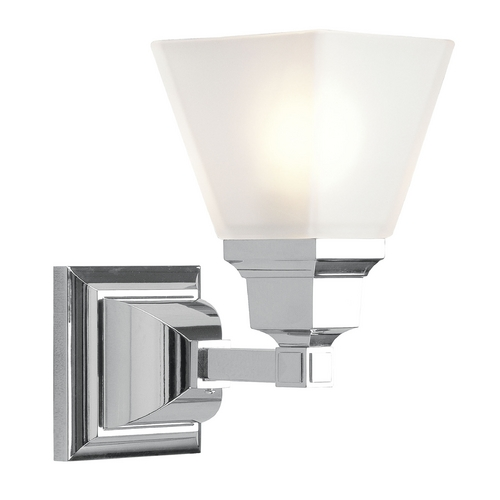 Mission Wall Sconce With Switch : Livex Lighting Mission Chrome Sconce 1031-05 Destination Lighting