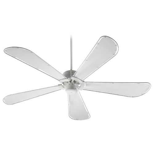 Quorum Lighting Quorum Lighting Dragonfly Patio Studio White Ceiling Fan Without Light 159605-8