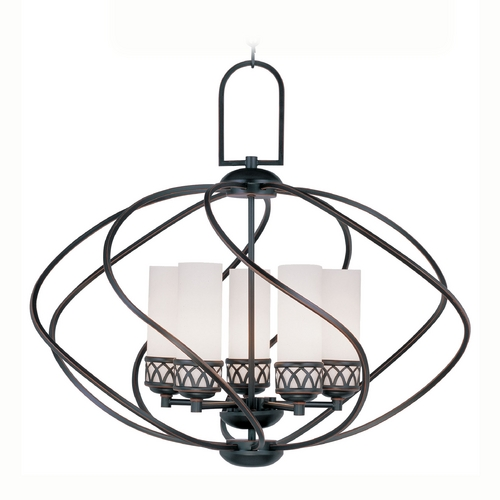 Livex Lighting Livex Lighting Westfield Olde Bronze Pendant Light with Cylindrical Shade 4725-67