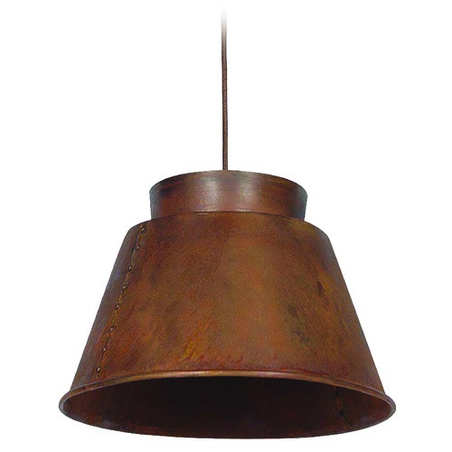 Kenroy Home Lighting Kenroy Home Lighting Metalsmith Rust Pendant Light with Empire Shade 92088RST