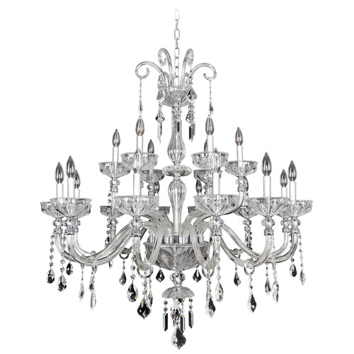 Allegri Lighting Allegri Clovio 2-Tier 18-Light Crystal Chandelier in Chrome 026054-010-FR001