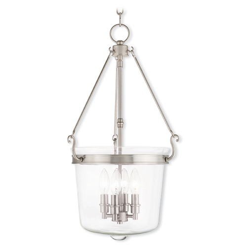 Livex Lighting Livex Lighting Rockford Brushed Nickel Pendant Light with Bowl / Dome Shade 50486-91
