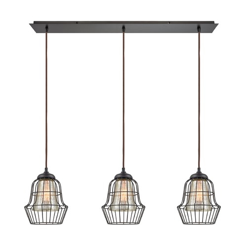 Elk Lighting Elk Lighting Yardley Oil Rubbed Bronze Multi-Light Pendant with Bell Shade 14246/3LP