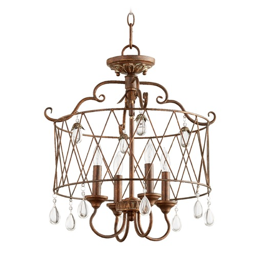 Quorum Lighting Quorum Lighting Venice Vintage Copper Pendant Light 2844-4-39