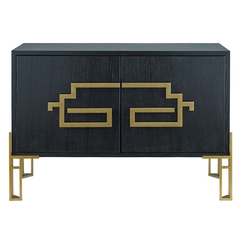 Currey and Company Lighting Currey and Company Zhin Caviar Black / Lapis Blue Cabinets / Storage / Organization 3259