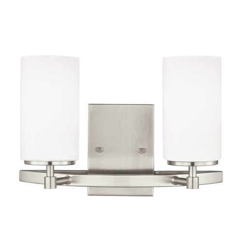Sea Gull Lighting Sea Gull Lighting Alturas Brushed Nickel LED Bathroom Light 4424602EN3-962