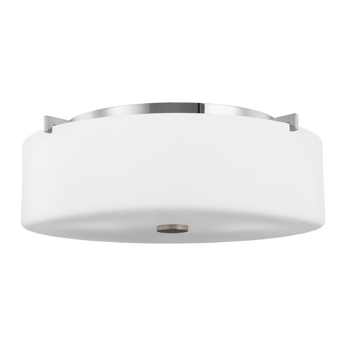 Sea Gull Lighting Sea Gull Lighting Sunset Drive Chrome LED Flushmount Light FM312EN3/CH