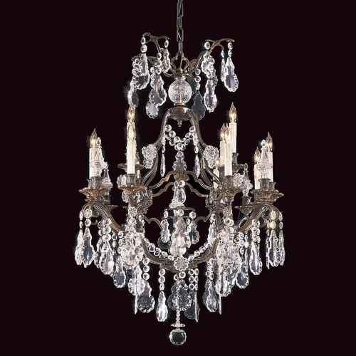 Metropolitan Lighting Crystal Chandelier in Oxide Brass Finish N950110