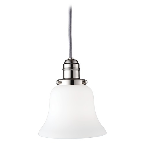 Hudson Valley Lighting Mini-Pendant Light with White Glass 3102-PN-341