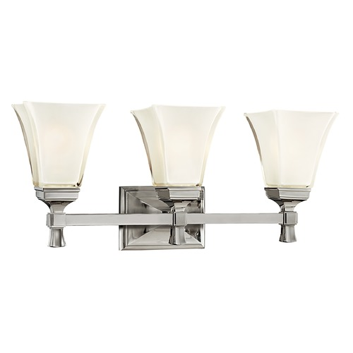 Hudson Valley Lighting Bathroom Light with White Glass in Polished Nickel Finish 1173-PN