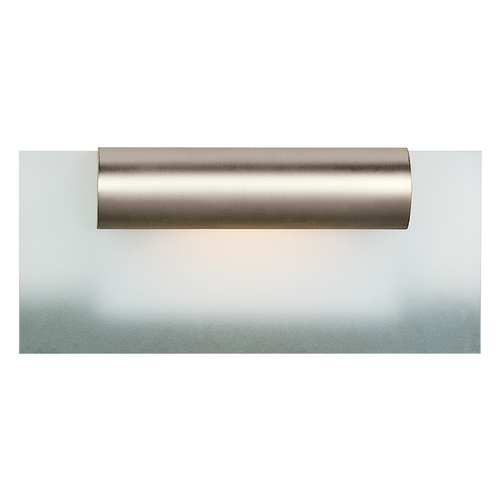 Access Lighting Modern Bathroom Light with White Glass in Satin Nickel Finish 62061-SC/FST