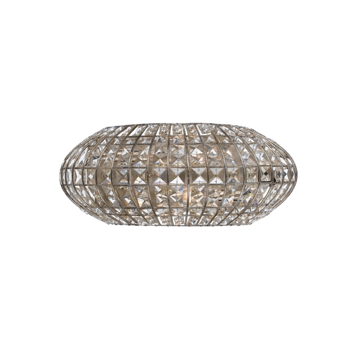 Crystorama Lighting Crystal Sconce Wall Light in Antique Silver Finish 342-SA
