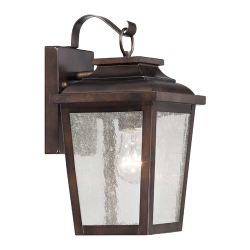 Minka Lighting Outdoor Wall Light with Clear Glass in Chelesa Bronze Finish 72171-189