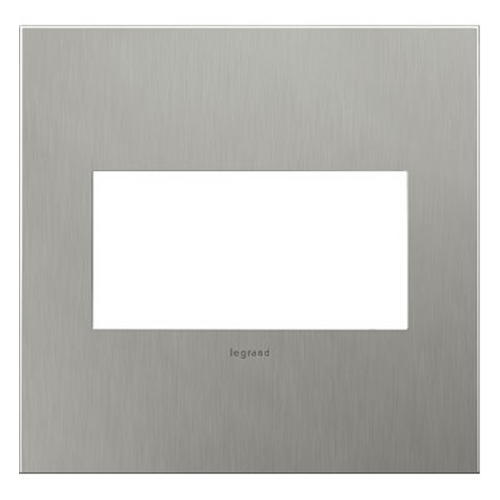 Legrand Adorne Legrand Adorne Brushed Stainless Steel 2-Gang Switch Plate AWC2GBS4