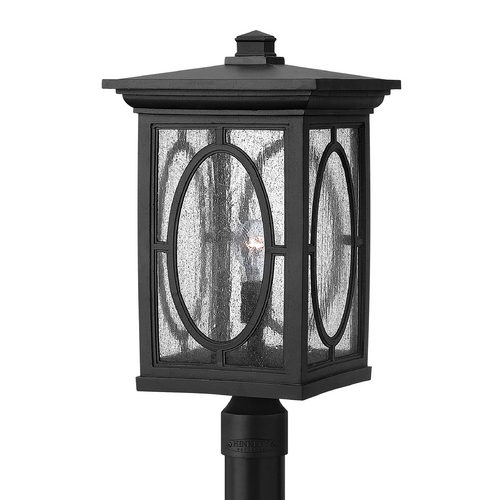 Hinkley Lighting Post Light with Clear Glass in Black Finish 1499BK-GU24