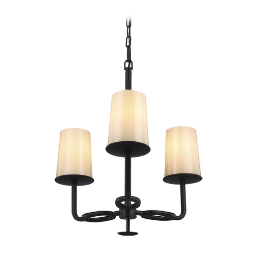 Feiss Lighting Feiss Lighting Huntley Oil Rubbed Bronze Mini-Chandelier F2923/3ORB