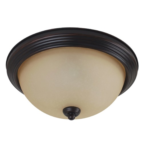 Sea Gull Lighting Sea Gull Lighting Ceiling Flush Mount Burnt Sienna LED Flushmount Light 7716591S-710