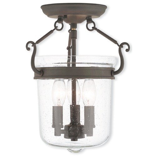 Livex Lighting Livex Lighting Winchester Bronze Semi-Flushmount Light 50491-07