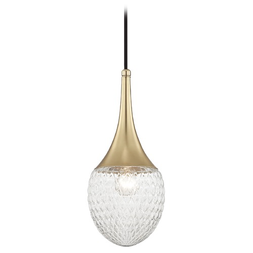 Mitzi by Hudson Valley Mid-Century Modern Pendant Light Brass Mitzi Bella by Hudson Valley Lighting H114701A-AGB