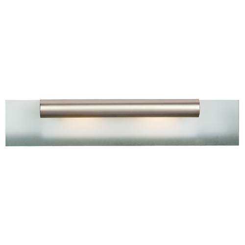 Access Lighting Modern Bathroom Light with White Glass in Satin Nickel Finish 62062-SC/FST