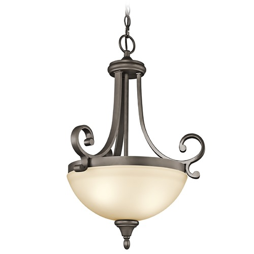 Kichler Lighting Kichler Pendant Light with Amber Glass in Olde Bronze Finish 43163OZ